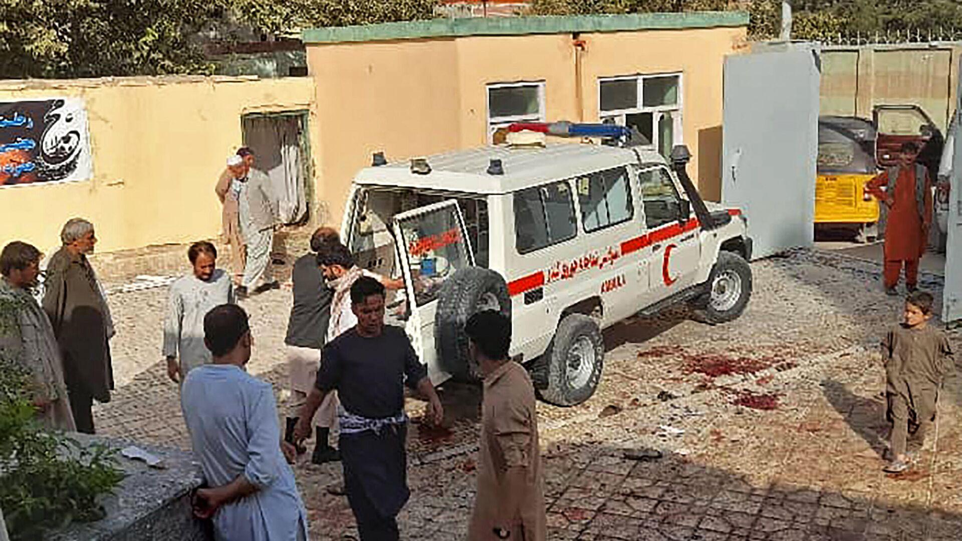 Lage nach einem Bombenanschlag auf eine Moschee in Kunduz am 8. Oktober 2021  - SNA, 1920, 08.10.2021