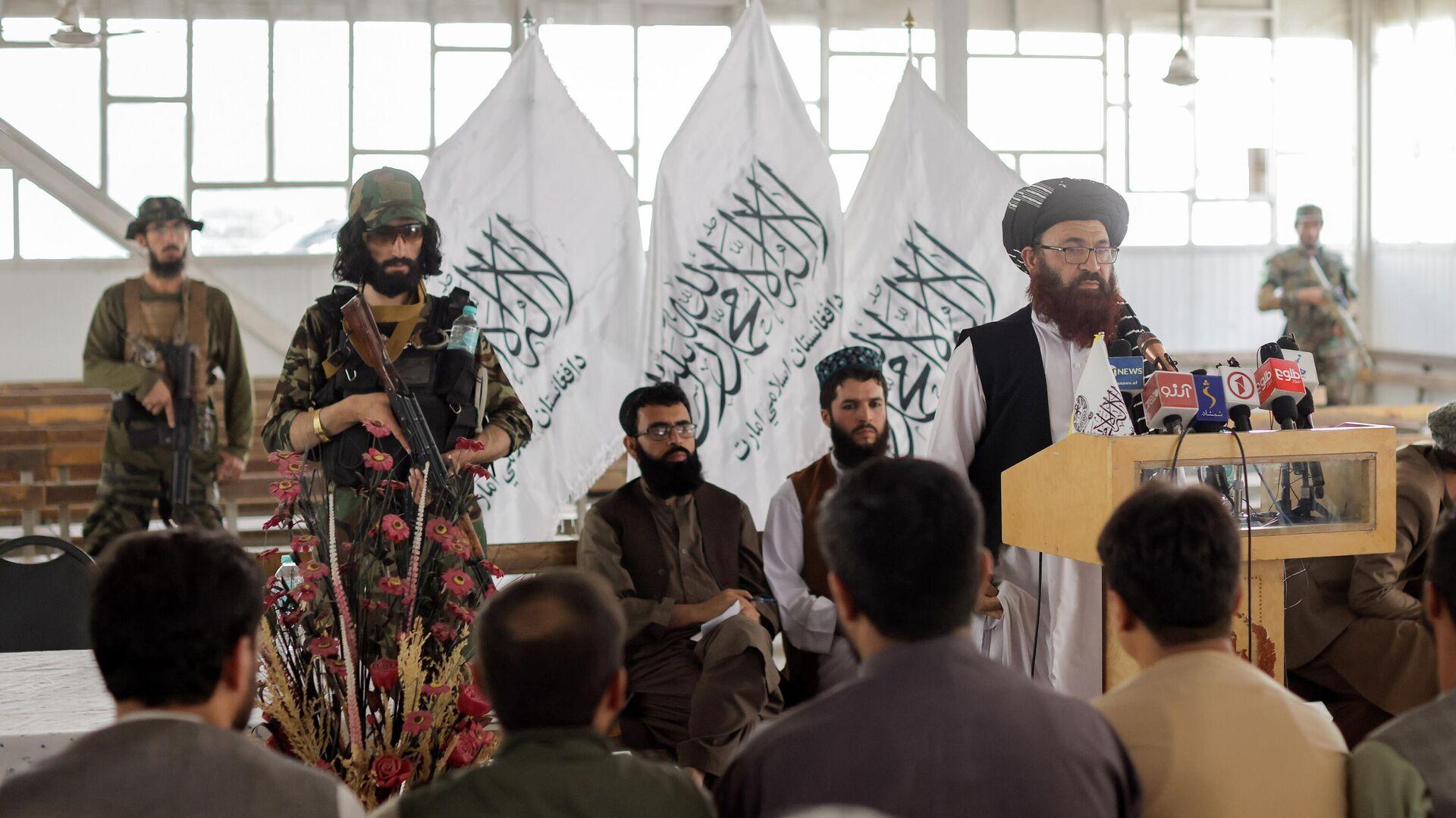 Beamte der afghanischen Taliban  - SNA, 1920, 09.10.2021