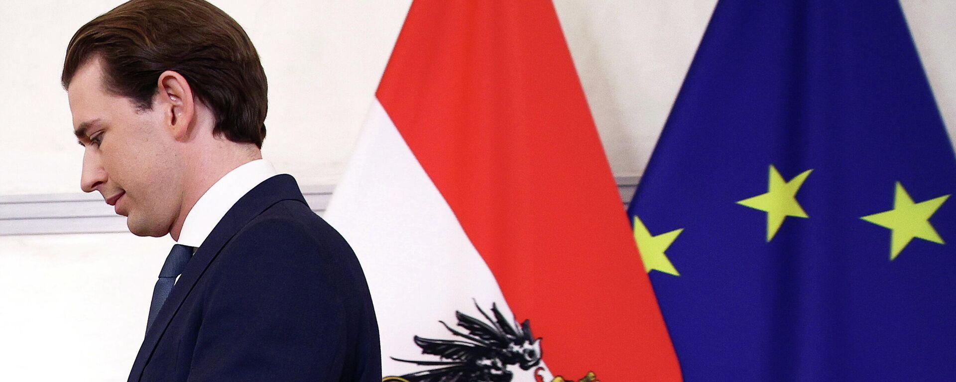 Österreichs Bundeskanzler Sebastian Kurz in Wien, 9.10.2021 - SNA, 1920, 09.10.2021