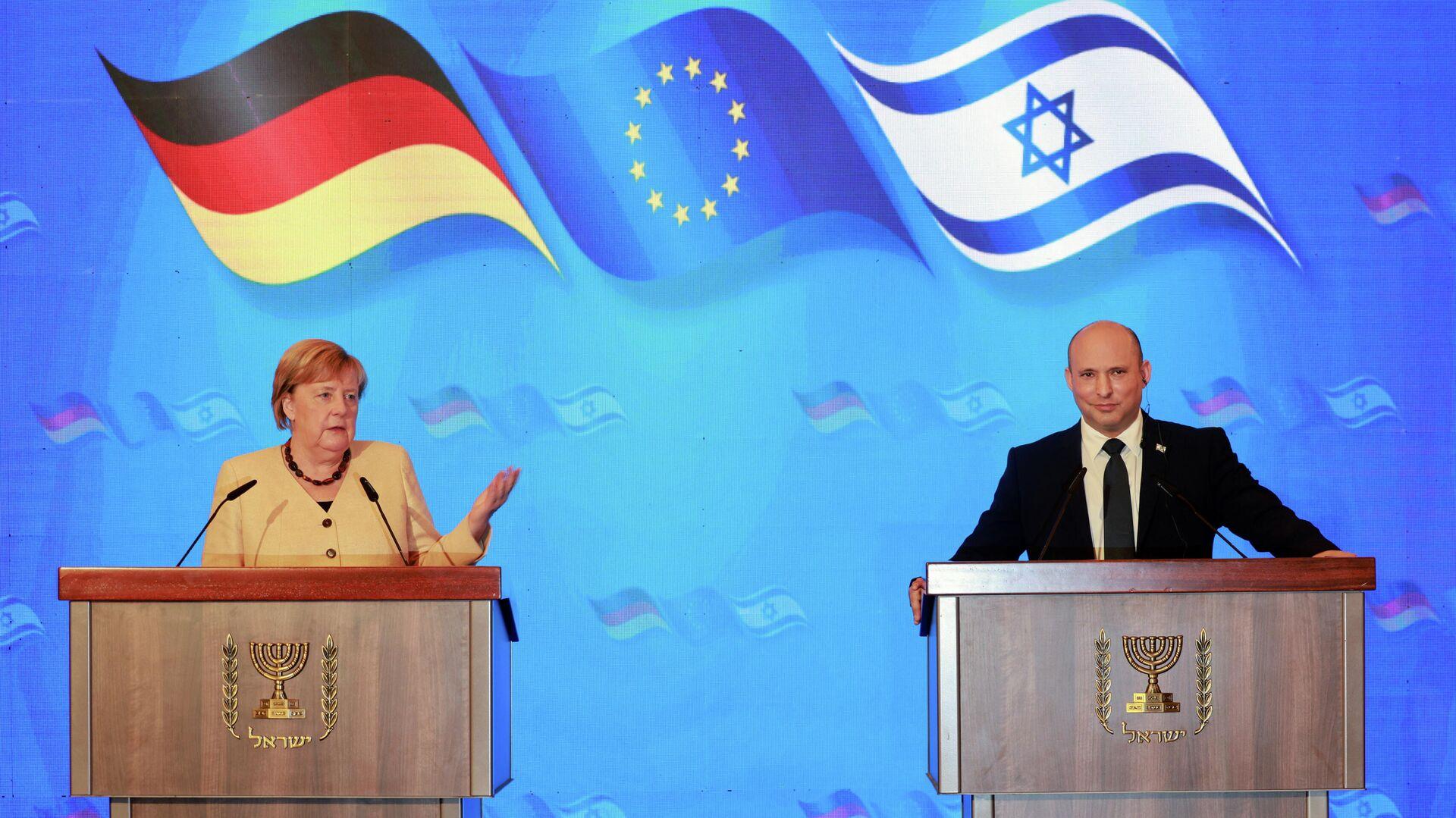 Bundeskanzlerin Angela Merkel nimmt an israelischem Regierungstreffen teil - SNA, 1920, 10.10.2021
