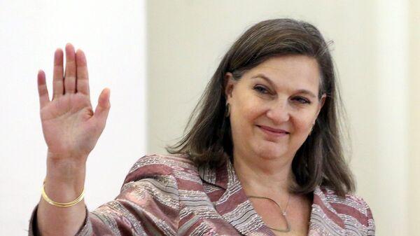 Помощник госсекретаря США по делам Европы и Евразии Виктория Нуланд на пресс-конференции в Москве - SNA