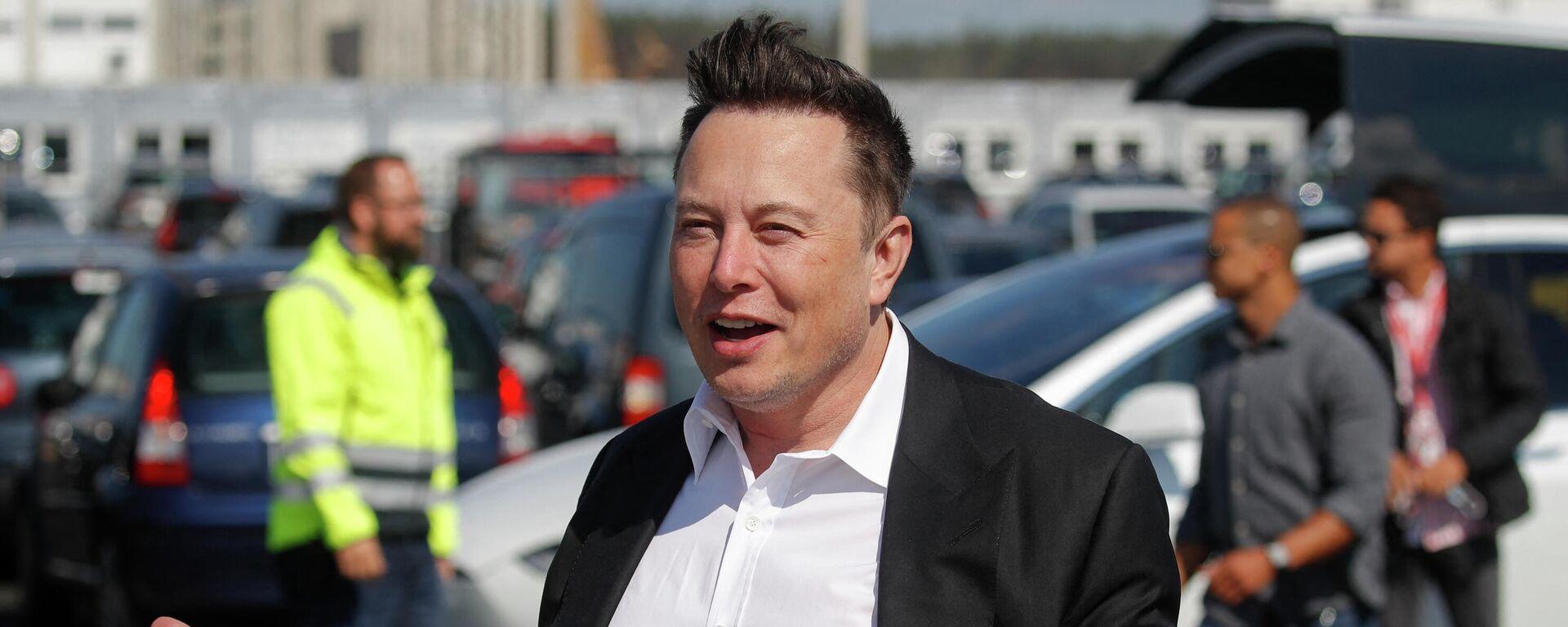 Elon Musk in Grünheide - SNA, 1920, 12.10.2021