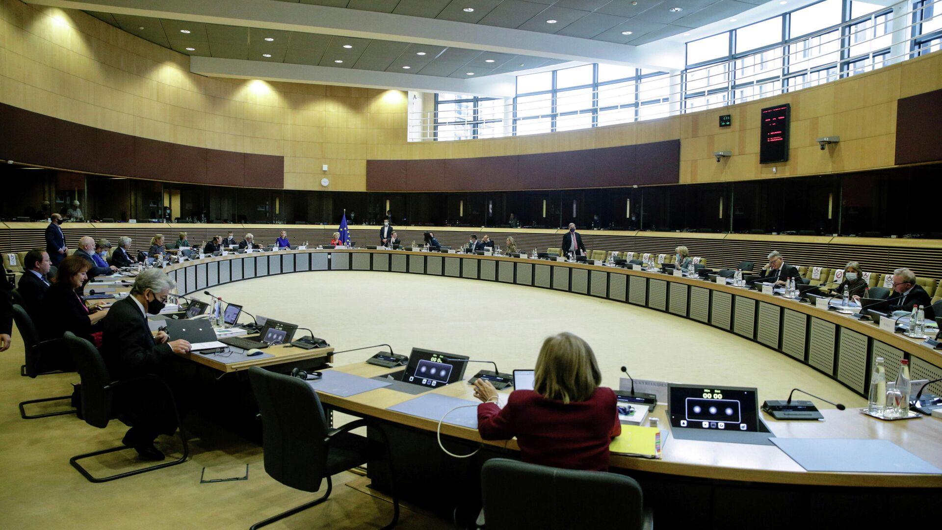 Sitzung des Kollegiums der EU-Kommissare. Brüssel, 13. Oktober 2021 - SNA, 1920, 13.10.2021