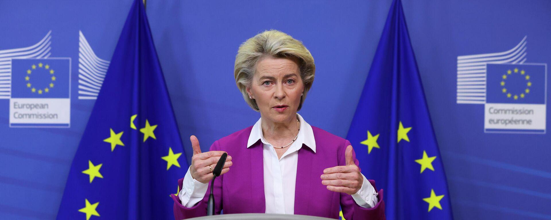 EU-Kommissionspräsidentin Ursula von der Leyen - SNA, 1920, 18.10.2021