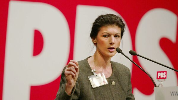Die linke Politikerin Sahra Wagenknecht - SNA