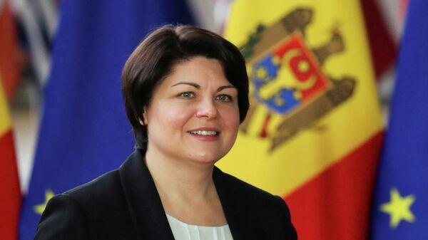 Moldauische Regierungschefin Natalia Gavrilita. Brüssel, 27. September 2021 - SNA