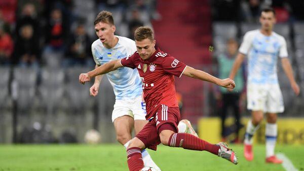FC-Bayern-Spieler Joshua Kimmich während eines Spieles gegen Dynamo Kiew in München, den 29. September 2021. - SNA